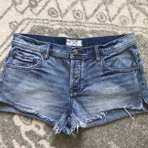 Free People Jean Shorts 28